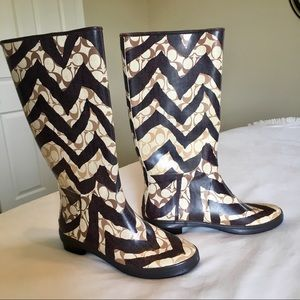Coach | Pammie Signature Zebra Print Rain Boots
